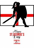 Happy St George Day Stand Tall And Proud Greeting Card