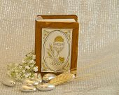 stock photo of communion-cup  - Symbolic photo for the first communion isolated - JPG
