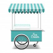 image of cart  - Ice cream cart - JPG