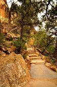foto of cortez  - Cliff Palece path Mesa Verde National Park - JPG