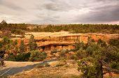 stock photo of cortez  - View of Mesa Verde Cliff Palace Colorado USA - JPG