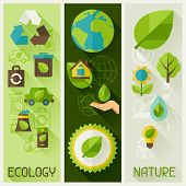 image of polluted  - Ecology banners with environment - JPG