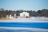 picture of manor  - Uzutrakis manor estate in winter - JPG
