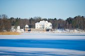 foto of manor  - Uzutrakis manor estate in winter - JPG