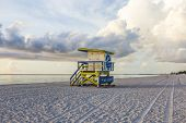 pic of beach hut  - wooden beach hut in Art deco style im south beach Miami - JPG