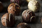 picture of truffle  - Fancy Dark Chocolate Truffles Ready to Eat - JPG