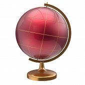 picture of geography  - Globe blank red planet international global geography school studying world cartography symbol icon - JPG