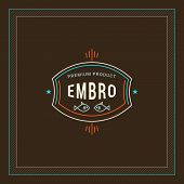 Line Art Logotype Template In Vintage Colors poster