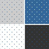 pic of color spot black white  - Tile vector pattern set with small polka dots on grey - JPG