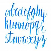 image of hand alphabet  - Hand drawn brush script font - JPG