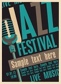 foto of microphone  - Poster for the jazz festival with a retro microphone - JPG