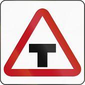 stock photo of intersection  - Bruneian danger warning sign  - JPG