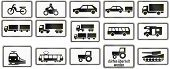 foto of armored car  - Collection of German supplementary road signs regarding specific vehicle types - JPG