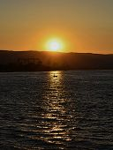 picture of serbia  - Sunset above Danube river at Kladovo Serbia - JPG