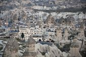 image of goreme  - The view of town of Goreme in Cappadocia at the evening - JPG