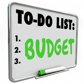 stock photo of budget  - Budget word written on to - JPG