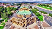 Постер, плакат: Semperoper Is The Opera House Of The Sachsische Staatsoper Dresden saxon State Opera And The Conce