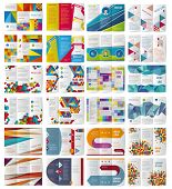 Twelve Trifold Vector  business brochures or magazine covers template. poster