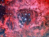 Постер, плакат: NGC 2244 Rosette Nebula