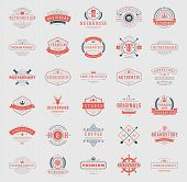 Retro Vintage Logotypes or insignias set vector design elements poster
