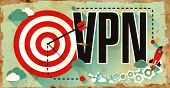 Постер, плакат: VPN on Grunge Poster