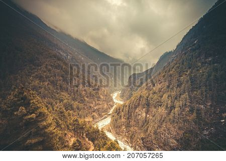 Mountain Valley Beautiful river landscape