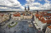 Prague Old Town Square And Church Of Mother Of God Before Tyn In Prague, Czech Republic. poster