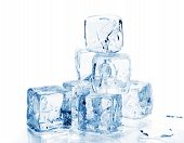 picture of ice-cubes  - close - JPG