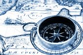 stock photo of treasure map  - extreme close - JPG