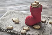 Butter Cookies In The Christmas Stocking poster