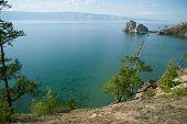 Lake Baikal Near Shamanka Rock poster