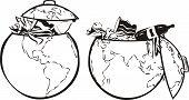 image of eastern hemisphere  - the pollution of the environmental  - JPG