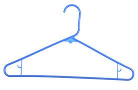 foto of clothes hanger  - Blue plastic hanger - JPG