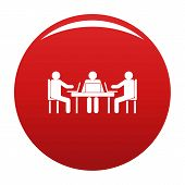 Conference Icon. Simple Illustration Of Conference Vector Icon For Any Design Red poster