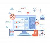 Search Engine Optimization, Seo, Analytics, Analysis, Targeting, Data Monitoring, Digital Marketing. poster