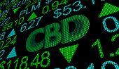 CBD Cannabidiol Hemp Marijuana Cannabis Stock Market Business Company Investment 3d Illustration poster