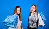 Fashionista Addicted Buyer. Fashion Boutique Kids. Shopping Of Her Dreams. Happy Children In Shop Wi poster