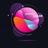Abstract Colorful Circle. Gradient In Sphere Of Red, Orange, Cyan, Magenta, Pink. Round Shape With O poster