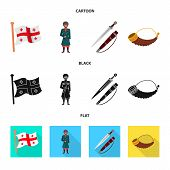 Vector Design Of Culture And Sightseeing Icon. Set Of Culture And Originality Stock Symbol For Web. poster