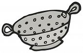cartoon colander