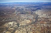 picture of cottonwood  - Aerial View of the Verde Valley including views of Camp Verde Cottonwood Sedona and Flagstaff Arizona - JPG