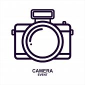 Camera Icon Isolated On White Background From Event Collection. Camera Icon Trendy And Modern Camera poster