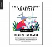 Medical Tests Template -chemical Laboratory Analysis - Modern Flat Vector Concept Digital Illustrati poster