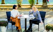 Togetherness And Female Friendship. Trust Her. Girls Friends Drink Coffee And Enjoy Talk. True Frien poster