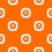 Sea Salvation Pattern Vector Orange For Any Web Design Best poster