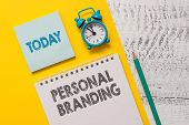 Text Sign Showing Personal Branding. Conceptual Photo Practice Of People Marketing Themselves Image  poster