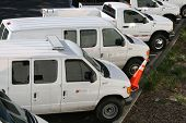 picture of fleet  - Service vans ready to go to work - JPG