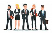 Business People Team. Office Teamwork, Professional Finance Workers Group And Businessman Characters poster