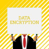 Handwriting Text Writing Data Encryption. Concept Meaning Symmetrickey Algorithm For The Encrypting  poster