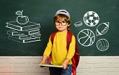 Learning At Home. Preschooler. Kids School. Home Schooling. Elementary School. School And Education  poster